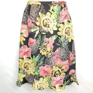 Vintage Silk Collection Pineapple Floral Skirt 10
